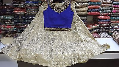 Ethnic Women Silk Lehnga Choli Crop Top Party wear suit with Free Shipping India
