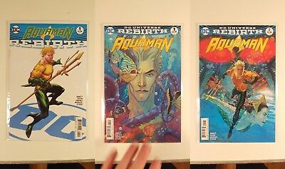 Aquaman Rebirth 2016 1-18 Middleton Covers +Rebirth OneShot NM