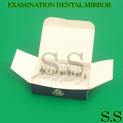 12 X Plain Surface Mouth Examination Dental Mirror Head No 4 Mirrors