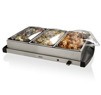 Oster Stainless Steel Electric Buffet Server Food Warmer Chafing Dishes Holiday