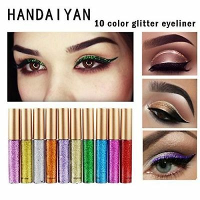 Makeup Metallic Shiny Smoky Eyes Eyeshadow Waterproof Glitter Liquid Eyeliner AU