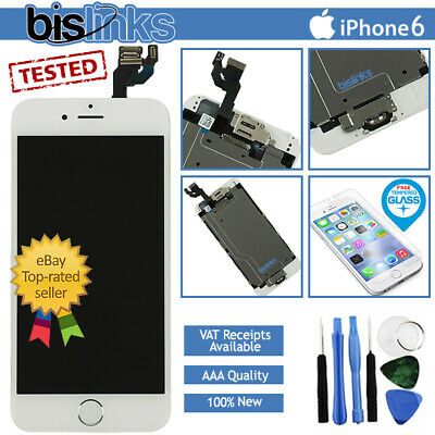 san francisco cdecd 89fc7 WHITE IPHONE 6 Screen Replacement LCD Digitizer Touch Home Button Camera  Tools