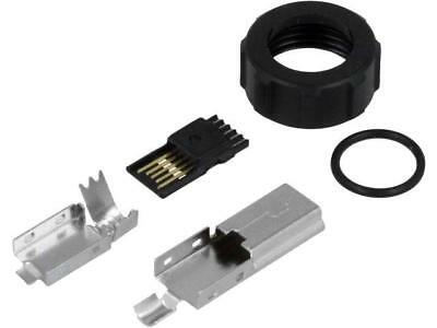 690-W05-260-043 Plug USB B mini for cable soldering straight for EDAC