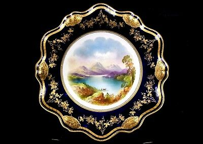 Antique Aynsley Comport Loch Achray By Joseph Birbeck C.1875+