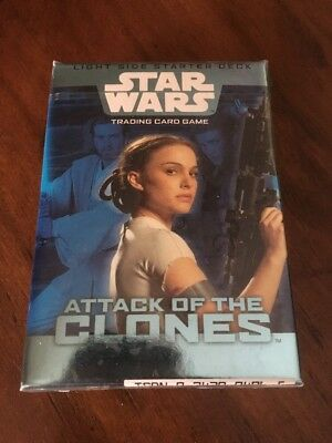 Star Wars Attack Of The Clones Trading Card Game Sealed Pack Light Side Starter