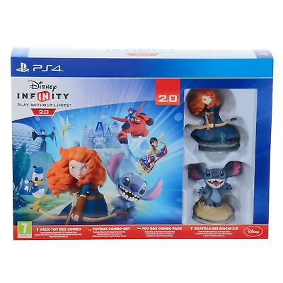 Disney Infinity 2.0 Toy Box Starter Pack Merida Stitch Characters Toy Game PS4