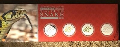 2013 Australia Year Of The Snake 4 Silver Coin Set. Only 1500 Special Typeset