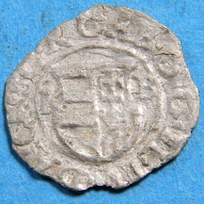 Hungary early 1600's silver Dinar (0629)  Madonna with child