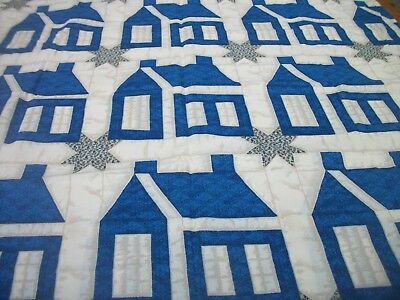 Faux Schoolhouse Quilt Print Material Daisy Kingdom 90 inches x 1.87 yards MT148