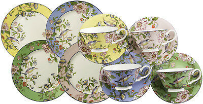 Aynsley Pembroke 12 Piece Colour Windsor Tea Set - New/boxed