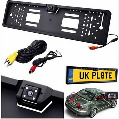 Car Rear 170° HD View Reversing Camera Backup License Number Plate Cam
