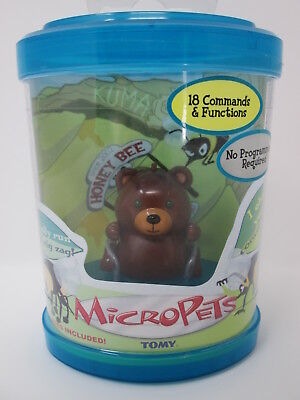MicroPets Tomy - KUMA the Bear - Original 2002 Interactive Toy - Factory Sealed