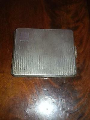 ART DECO Hallmarked Silver ENGINE TURNED Cigarette Case Smith & Bartlam 1943