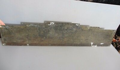 "Antique Solid Brass Kick Plate Door Guard Vintage Art Deco Old  34.5"" x 8"""
