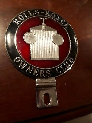 Vintage rolls-royce owners club badge car topper great shape rare