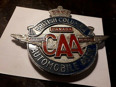 Vintage automobile assn honor member of british columbia CAA car topper