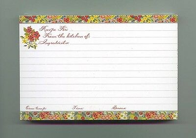 15 Longaberger Flower Recipe Cards 4 x 6 New but not in pkg free ship