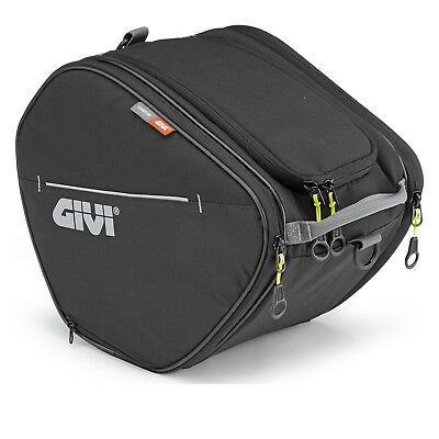 Givi Easy-T Range Scooter Tunnel Bag 15L Black (EA105B) Rain Cover Reflective
