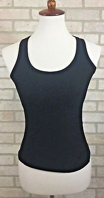 Nike womans black dri-fit racerback tank top size small 4 - 6 athletic bra EUC