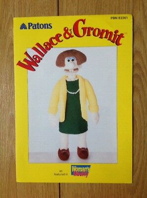 Alan Dart Knitting Pattern For Wallace And Gromit Wendoline Toy