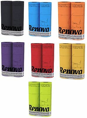 Renova 3 Ply Soft Colour Toilet Loo Bathroom Tissue Paper Rolls 6 Pack