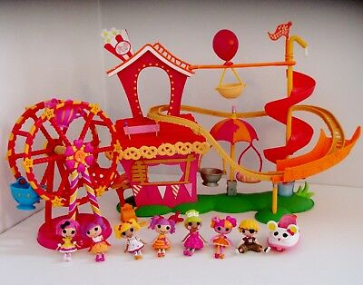 Lalaloopsy Roller Coaster & Ferris Wheel Playsets with Loads Of Doll Figures