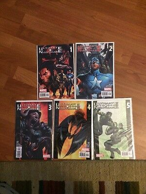 Ultimate Nightmare New Complete Run 1-5 Ellis Thor Avengers Ultimates X-Men