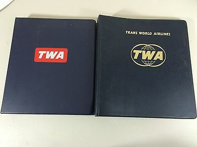 LOT OF 2 VINTAGE TWA TRANS WORLD AIRLINES FEDERAL AVIATION REGULATIONS 70s & 80s
