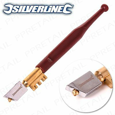 PREMIUM QUALITY SILVERLINE DIAMOND TIP GLASS CUTTER Mirror Glazing Cutting Tool