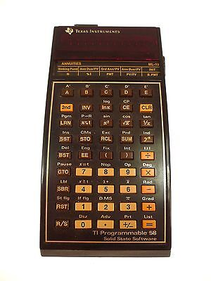 TEXAS INSTRUMENTS Ti58 PROGRAMMABLE CALCULATOR - PARTS UNTESTED