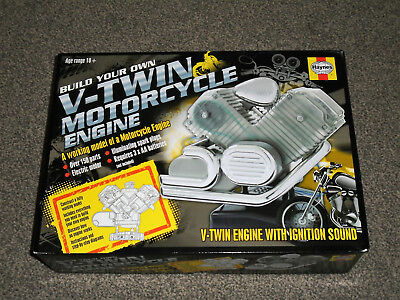 Haynes V-Twin Motorcycle Engine : Build Your Own Model Kit - New (Free Uk P&p)