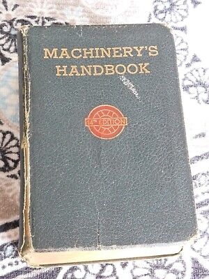 Machinery's Handbook 14th Edition (1953) for Machine Shop & Drafting Room