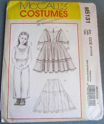 Uncut Girls Historical Dress and Underwear McCalls 2006  Pattern Sizes 3 to 6