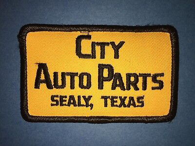 Vintage 1970's City Auto Parts Hat Jacket Uniform Hipster Jacket Patch Crest