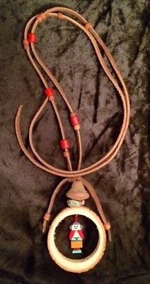Kachina Necklace W/ Pre-Columbian Spindle Whorl Bead & Rare Antique Trade Bead