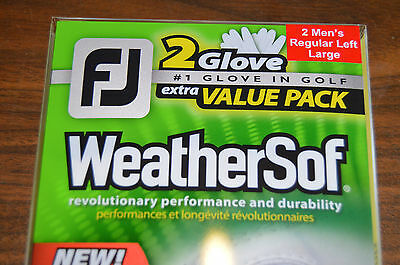 New FootJoy WeatherSof Gloves - 2 Pack - Large