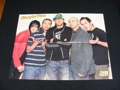 SIMPLE PLAN magazine clippings lot No2 with POSTER
