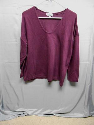99409debd5 Express Tricot burgundy scoop neck long sleeve top women s size medium