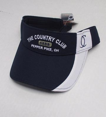 NEW Mens The Country Club 100% cotton low crown golf visor OSFA