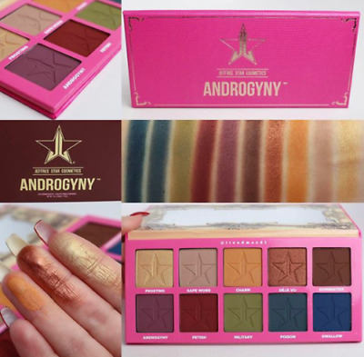 UK 2017 NEW 10 COLOR Je ffree Star's ANDROGYNY MakeUp EYESHADOW PALETTE