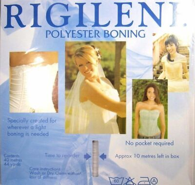 5m x Rigilene Polyester Boning - 8mm / 12mm Black / White or Clear