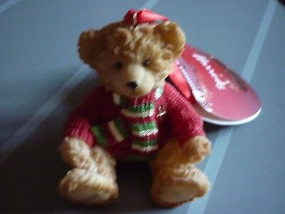 Harrods 2010 Christmas Resin Bear Archie New Labelled Footdated
