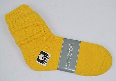 VINTAGE 1980's 1 Pair Cotton SLOUCH Baggy Socks Bright Yellow - NEW OLD STOCK