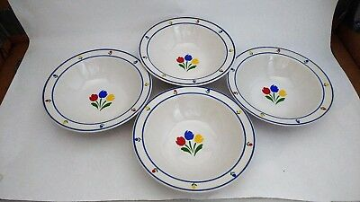 "JMP Marketing Tulip Tyme - Set (s) of FOUR 6 1/4"" Rim Cereal / Soup Bowls"