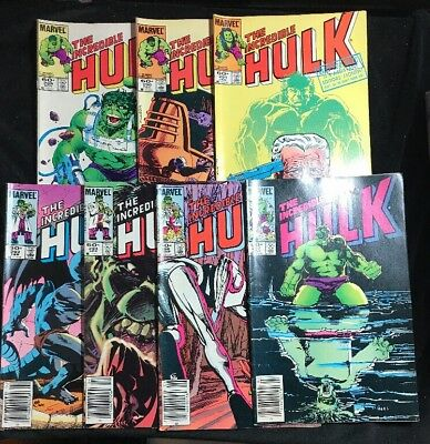 Marvel The Incredible Hulk 289,290,291,292,294,296,297 Lot of 7