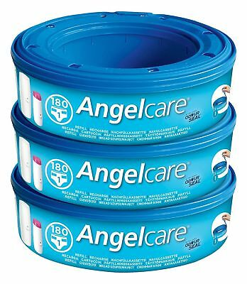 Angelcare Nappy Disposal System Refill Cassettes Bin Wrap for Baby Pack of 2/3