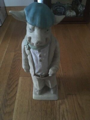 "TALL 15"" CHEF PIG STATUE Nice Condition Free Shipping..."