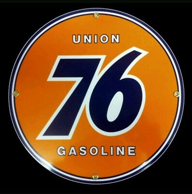 Union 76 Gasoline Oil Porcelain Advertising Sign