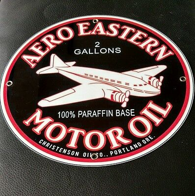Aero Eastern Motor Oil gasoline gas sign ..FREE ship on 10 signs