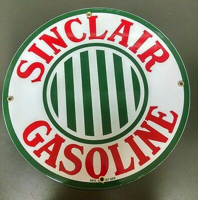 SINCLAIR GASOLINE Oil / Gas Porcelain Advertising sign